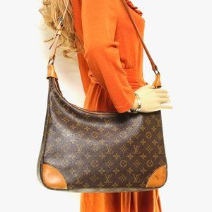 Auth Louis Vuitton Boulogne 35 Shoulder #4145L15